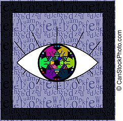 colored abstract eye - abstract colored background image of...