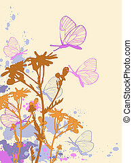 colored abstract floral background