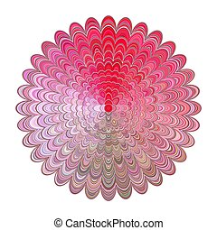 Colored abstract floral mandala design - digital art