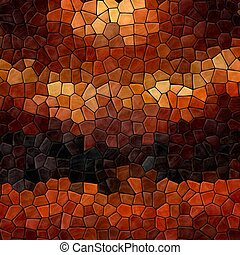 colored abstract marble irregular plastic stony mosaic pattern texture background with black grout - dark brown, orange, beige colors
