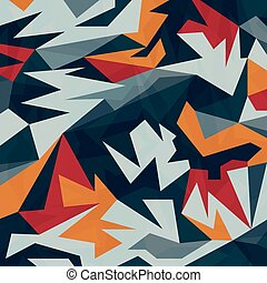 Colored abstract pattern of polygons