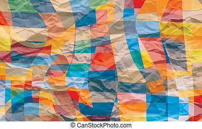 colored abstract vector background with texture of crumpled pape