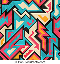 colored african seamless pattern