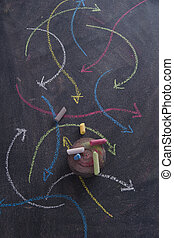 Colored arrows curvilinear - Curved colored arrows drawn ...