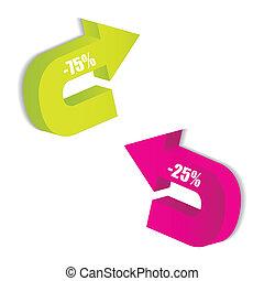 colored arrows vector with special design