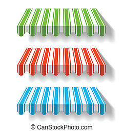 Colored awning vector illustration