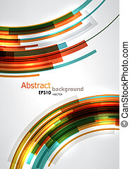 Colored background - Colorful dynamic circles. EPS10 vector...