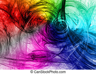 Colored background.