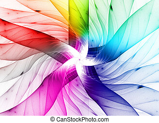 Colored background. - Abstract colorful waves and random...