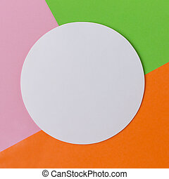 Colored background with a white circle in the middle