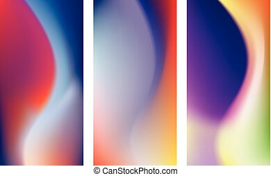 Colored backgrounds for smartphone. - Set of abstract...