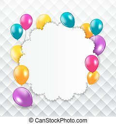 Colored Balloons Background, Vector Illustration.