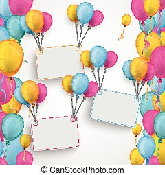 Colored Balloons Brochure Centre