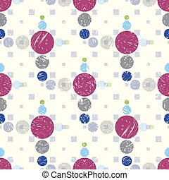 colored balls grunge effect seamless vector pattern background