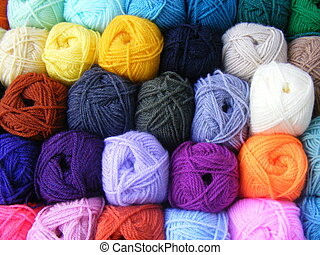 colored balls of wool - Fabric accessories for retail