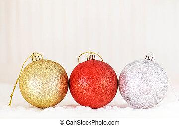 balls on a white background.
