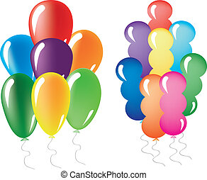 Colored Baloons - Different types of baloons