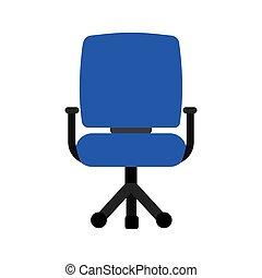 blue chair icon