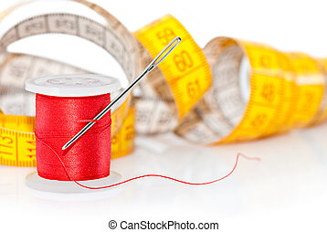 Colored bobbin for sewing