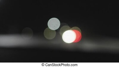 colored bokeh motion on a black background