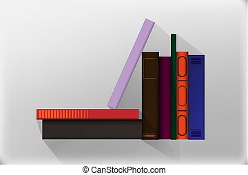 Book icons in flat design style. vector illustration of isolated