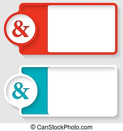 Colored boxes for your text and ampersand