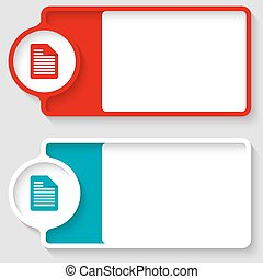 Colored boxes for your text and document icon