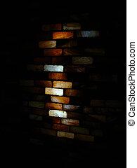 colored bricks - colored semi transparent bricks made of ...