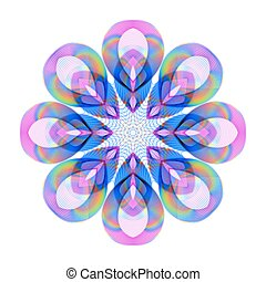 Colored Bright Rainbow Decoration on Transparent Background.