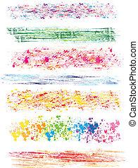 colored brush strokes