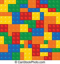 Colored Building Blocks Texture Illustration