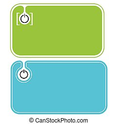 Colored business cards and power button