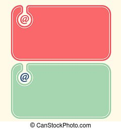 Colored business cards with email