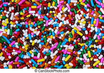 Colored candy background
