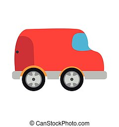 Colored car toy icon