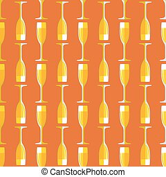 colored champagne glass seamless pattern
