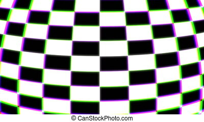 Colored checkered 3d shapes, computer generated modern...