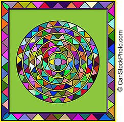 colored circle and frame - abstract colored image of circle...