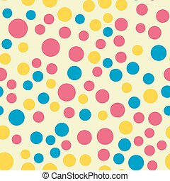 Colored circle seamless pattern shape art geometric graphic background vector illustration
