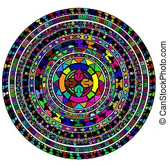 colored circles and white - abstract colored image of circle...