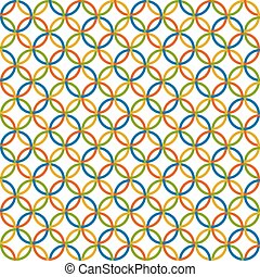 colored circles background - endless