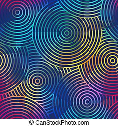 Colored circles seamless pattern.