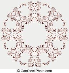 colored circular ornament
