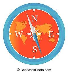 Colored compass icon
