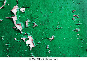 Colored concrete background with peeling old paint