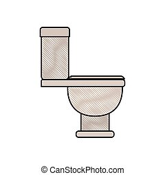 colored crayon silhouette of toilet icon side view
