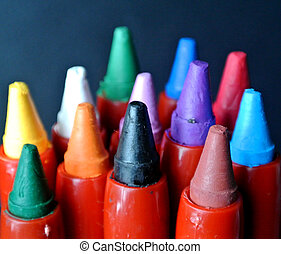 colored crayons