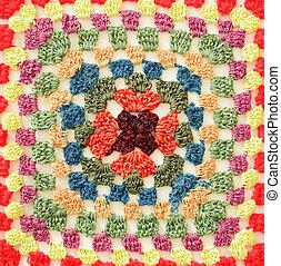 Colored crochet square