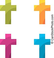 Colored cross set