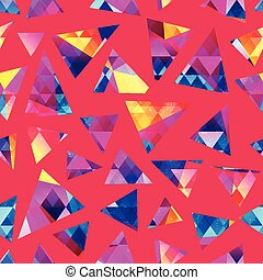 Colored crystal seamless pattern